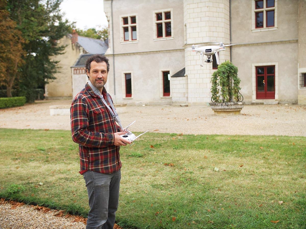 Tournage audiovisuel avec drone