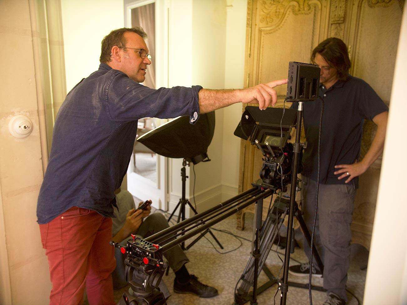 Tournage avec réalisateur de Kronos Productions audiovisuelles