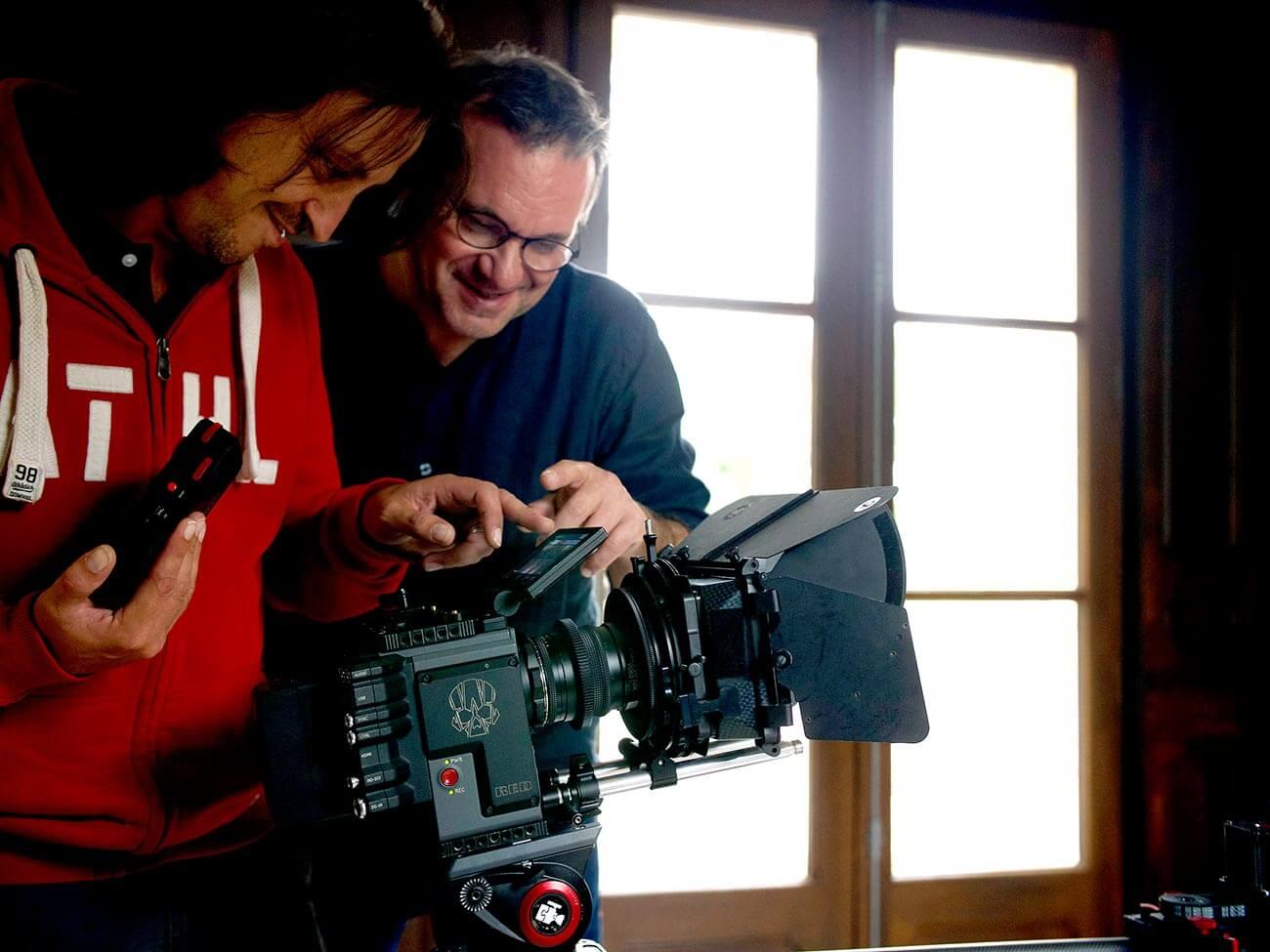 Réalisateur de Kronos Productions lors d'un tournage audiovisuel