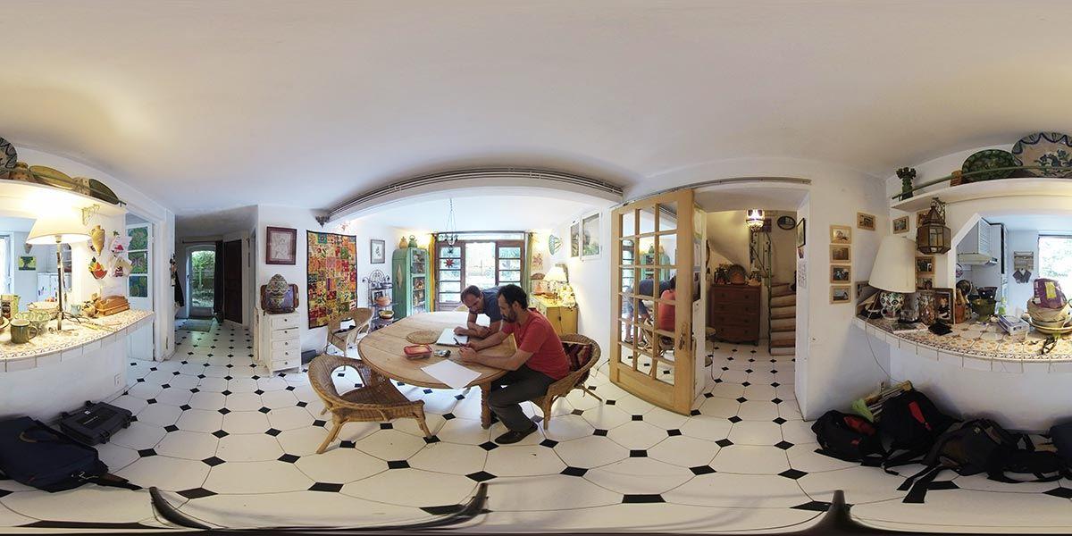 Production 360°, panoramique d'une pièce
