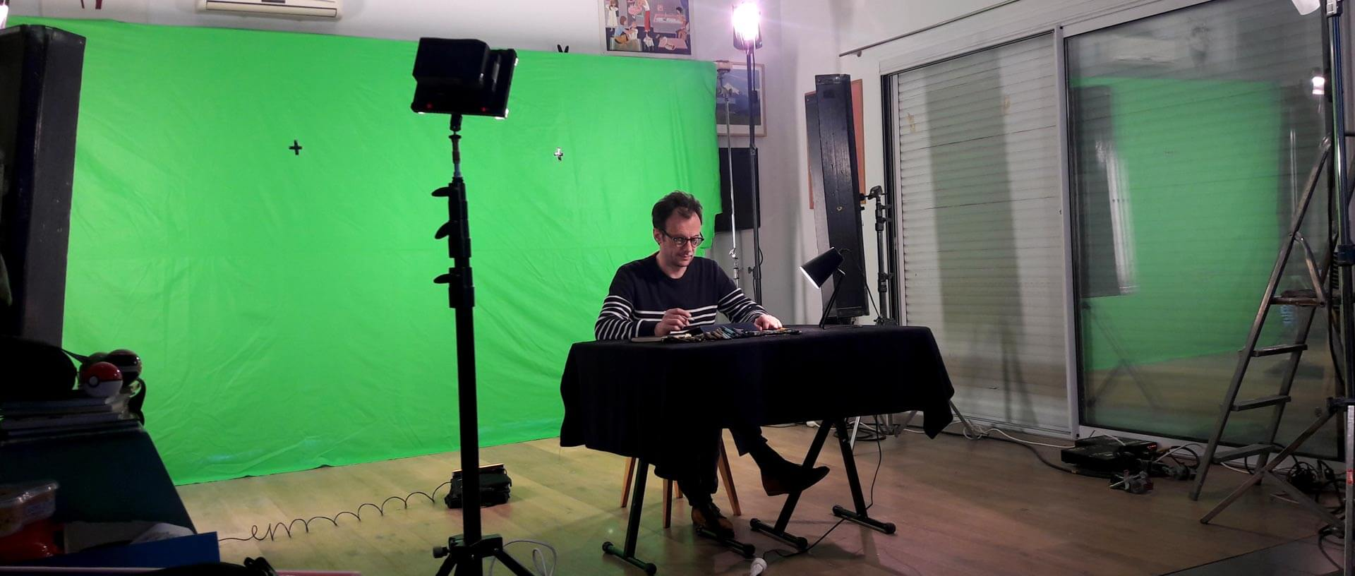 tournage sur mesure avec fond vert par kronos productions