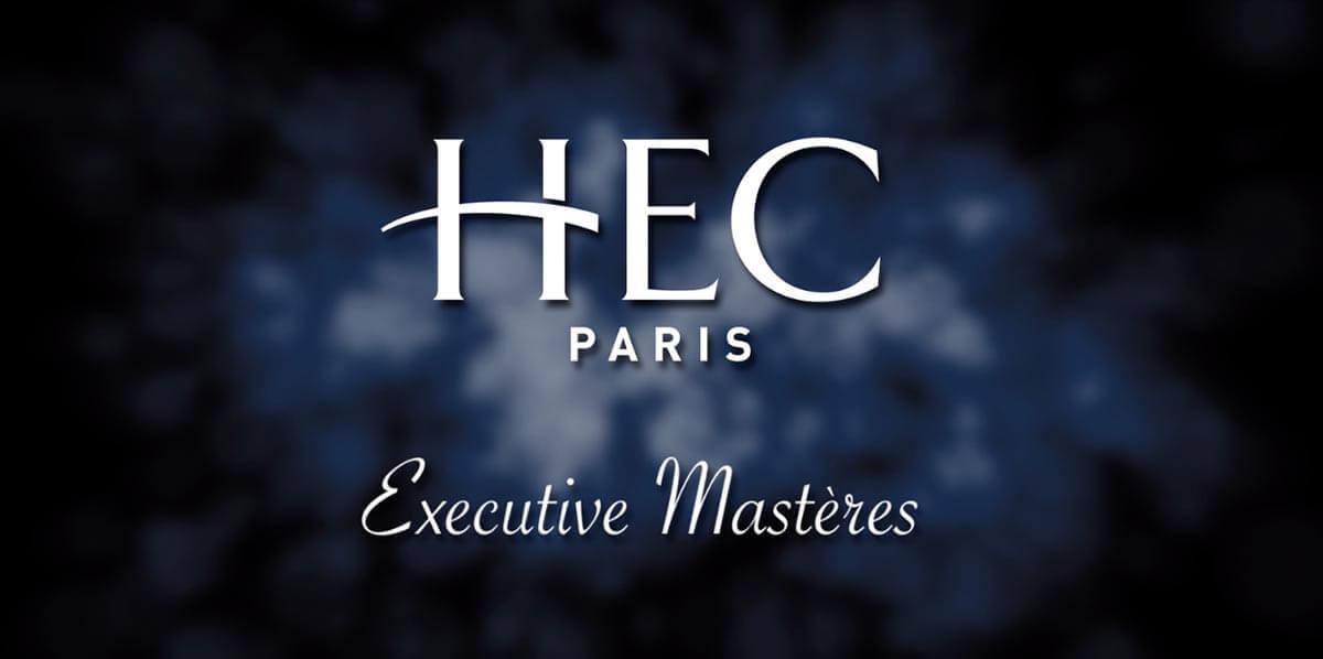 Logo Hec Paris sur fond sombre