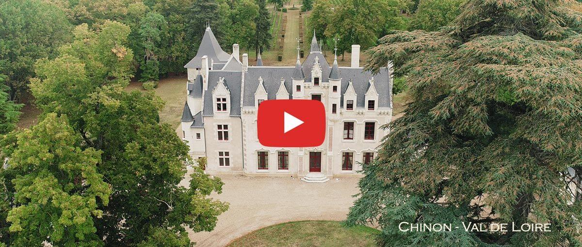 Vue aérienne du Château de La Grille - voir la vidéo
